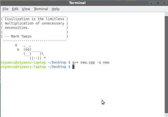 how to write c program in linux terminal
